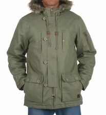 Button Cotton Hip Length Parkas for Men