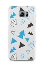 Blue Black Hand Drawn Sketched Triangle Shapes Phone Case Pattern Design Printed