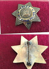 Red Bluff, California POLICE CHIEF antique obsolete police badge