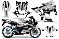 AMR Racing Graphic Kit Wrap Part Suzuki GSXR 1000 Street Bike 01-02 ATTACK SILVR