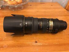 Nikon Lens AF-S VR NIKKOR 70-200mm 1:2.8G ED F/2.8 G w/ Caps and HB-29 Lens Hood