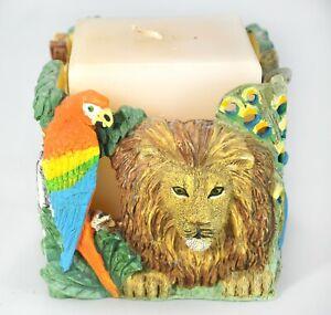 Jungle Animals Candle Holder Lion  Zebra Parrot Elephant Panda Monkey More