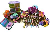 Polly Pockets Lot Dolls Playset Jeep Moped Pet Parlor