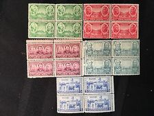 "1936-37 US Postage ""Army"" Commemorative Stamps Block of Four 5 Blocks"