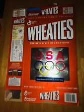1996 Team USA Wheaties Olympic Rings Empty 18 oz Cereal Box A