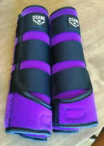 New Ozark Leather Co. Breathable Neoprene Sport Boots Large Purple Horse Tack