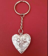 Heart Locket Keyring add photo picture jewelry keychain key chain ring