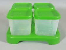 Green Sprouts Unbreakable Food Storage Containers Plastic Set of 4 w/ Lids Baby