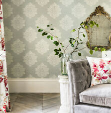 """22yd Sanderson UK """"laurie"""" Eggshell Chalky Damask Wallpaper 216267 Retail"""