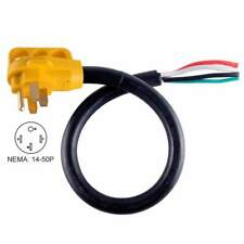 "Superior Electric RVA1529 25 ft. 50 Amp RV Cord W/6"" Loose End Plug & Handle"