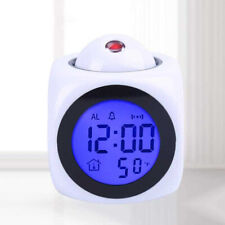 Led Temperature Digital Display Projection Alarm Clocks Talking Snooze Function