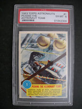1963 ASTRONAUTS CARD #1  PSA 6  TOPPS