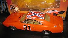 SILVER SCREEN 1:18 1969 DODGE CHARGER GENERAL LEE  DUKE'S OF HAZARD TV CAR