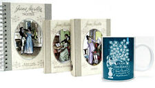 Jane Austen Gift Set Sense & Sensibility, Emma, Notebook & Pride & Prejudice Mug
