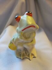 New ListingRare Old Porcelain Pottery Frog Playing Horn Bank Made In Japan
