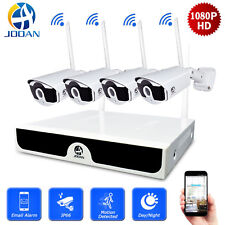 JOOAN Wireless 4CH NVR 1080P Outdoor CCTV IP Camera Home Security System Kit
