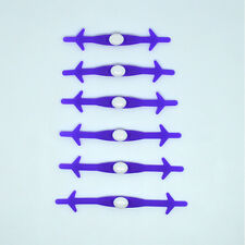 Elastic 12PCS  Free Tying No Tie Lazy Silicone Shoelace Shoe Laces Accessories
