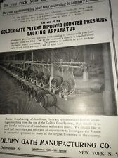 Golden Gate Keg Racking Equipment Beer Ad 1907 Brewery New York