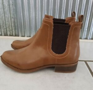 *New* Lipstik (Windsor Smith) Tan/Brown Slip-On Chelsea Boots - Size 7 Womens