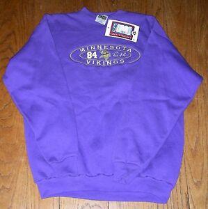 NEW NFL MINNESOTA VIKINGS RANDY MOSS Men's Crew Sweatshirt Sweater Large Vintage