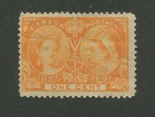 1897 Canada 1 Cent Jubilee Queen Victoria Postage Stamp #51 Catalogue Value $30