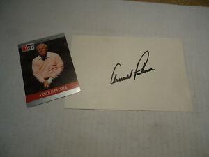 Arnold Palmer autograph index card 4x6 golf pro sports