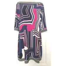 NEW Ali Ro 3/4 Sleeve Printed Boatneck Jersey Dress (Size 10) Multi-Color