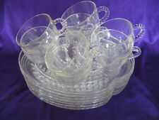 Vintage set of 14 pcs (service for 7) Federal Glass Homestead Snack Set