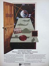 8/86 PUB E-SYSTEMS ECI MILITARY ANTENNAS NAVSTAR GPS MICROELECTRONICS DOOR AD