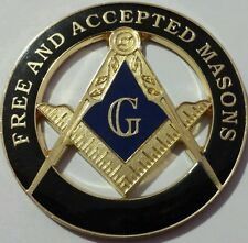 Freemason Free and Aceepted Masons Cut Out Car Emblem in Black