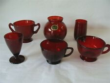 ANCHOR HOCKING ROYAL RUBY 6 PIECES