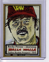 ROCKY PERONE, '74 PADRES 36 YEAR-OLD ROOKIE IMPOSTER WHO MADE THE TEAM!