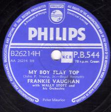 "Raro Frankie Vaughan 78 ""mi niño Tapa Plana/robándonos' ""Reino Unido Philips pb 544 EX/E -"