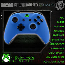 XBOX ONE RAPID FIRE CONTROLLER - BEST MOD ON EBAY!! Blue Rubber Shell- GREEN LED