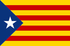 ESTELADA BLAVA FLAG 5' x 3' Spain Catalonia Catalan Barcelona Independence