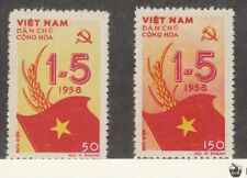 North Viet Nam Sc 69-70 LH issue of 1958 - MAY DAY