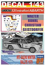 DECAL 1/43 FIAT 131 ABARTH W.ROHRL SACHS WINTER R. 1979 WINNER (01)
