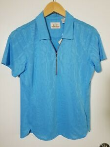1 NWT EP PRO WOMEN'S POLO, SIZE: MEDIUM, COLOR: WATERFALL BLUE (J128)