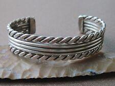 "Vintage Navajo TAHE Sterling Silver Cuff Bracelet ~ 6 3/8"" ~ 31.6 grams"
