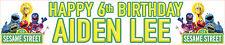 2 X SESAME STREET PERSONALISED BIRTHDAY BANNERS