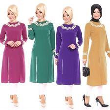 Dubai Women Long Sleeve Abaya Kaftan Jilbab Muslim Clothing Islamic Maxi Dress