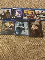 Blu-ray Movie lot 7 Movies. Schindlers List, Bourne, Casino Royale Etc