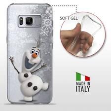 Samsung Galaxy S8 TPU CASE COVER PROTETTIVA GEL TRASPARENTE Disney Frozen Olaf