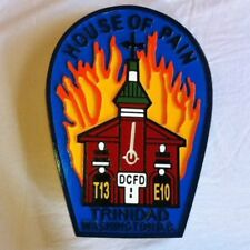 Fire Department DC Trinidad 3D routed carved wood patch plaque sign Custom
