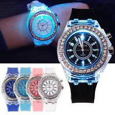 Ladies Womens LED Backlight Bling Quartz Wrist Watches Sport Watch Waterproof 0