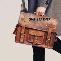 New Real Extraordinary Leather Satchel Messenger Laptop Shoulder Handbag Bag