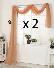 SPECIAL OFFER>>>2 X Window Dressing Terracotta Scarf  Extra Large   1.5mx 5m