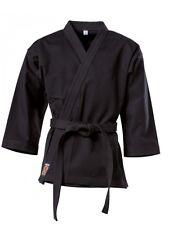 Karatejacke Black negro 8 oz. Gi. kimono. karate. Wing Tsun. wu shu. 160-170cm.