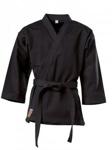 Karatejacke Black schwarz 8 oz. Gi. Kimono. Karate. Wing Tsun. Wushu. 200cm.