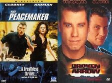 2-SET PEACEMAKER & BROKEN ARROW DVDs Nuclear Thrillers Action Movies Clooney NEW